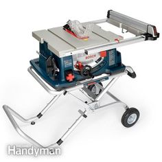 We tested seven of the most popular portable table saws for DIYers. And we'll help you choose the best table saw for your individual needs. Table Saw Workbench, Table Saw Jigs, Diy Table Saw, Tool Table, Best Portable Table Saw, Best Table Saw, Table Saw Stand, Used Woodworking Tools, Woodworking Garage