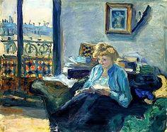 Woman Reading - Pierre Bonnard