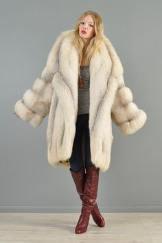 Claude Montana Shadow Fox Fur Coat | BUSTOWN MODERN | Elaine