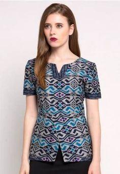 trendy how to look cute in scrubs uniform Model Dress Batik, Batik Dress, Blouse Batik Modern, Batik Kebaya, Batik Fashion, Blouse Models, Basic Outfits, Blouse Designs, Fashion Outfits