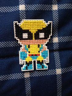 Wolverine cross stitched pin/patch by geekstitcheryshop on Etsy