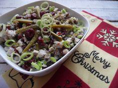 Wigilijna sałatka śledziowa Dom, Pasta Salad, Chicken, Meat, Ethnic Recipes, Crab Pasta Salad, Cubs
