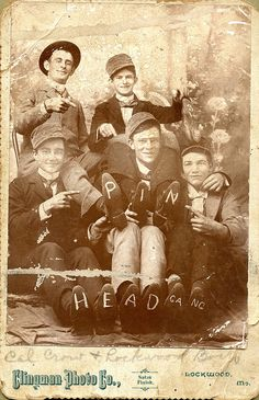 Pin Head Gang Cabinet Card by depthandtime, via Flickr