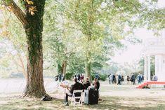 Waterfront wedding, tree wedding, september wedding, string quartet