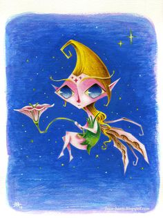"Tinkerbell painting for the ""Peter Pan & Wendy"" exhibition at Susanita's Little Gallery. Art by Juan Bauty, 2012."