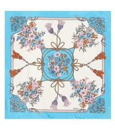 ed4fc8883 Gucci - Printed silk scarf - Whether it's wrapped around your neck as the  final touch