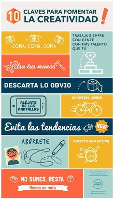 10 claves para fomentar la #creatividad  #empleo #habilidades www.erafbadia.blogspot.com