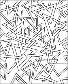 Abstract Triangle Coloring Page