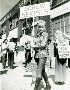 This girl is awesome. Except it should say fuck sexists!