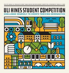 WEBSTA @doublenautdesign Artwork for the 2017 ULI Hines graduate student competition to build better environments.