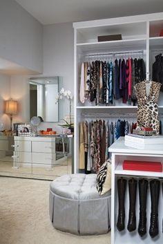 Big open closet