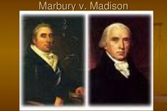 On this day in 1803, the Supreme Court granted itself power over Congress and the people in the Marbury vs. Madison case.