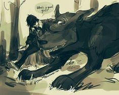 Nico di Angelo and the hellhound, Mrs. O'leary / Percy Jackson / Heroes of Olympus - art by (duh) Viria. She is sooooo sweet! Memes Percy Jackson, Percy Jackson Fanart, Arte Percy Jackson, Dibujos Percy Jackson, Percy Jackson Characters, Percy Jackson Books, Fictional Characters, Percabeth, Solangelo Fanart