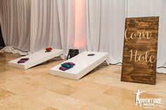 Enjoy your favorite games during your cocktail hour or reception here at Dreams Playa Mujeres Golf & Spa! #CornHole #DestinationWedding #DreamsPlayaMujeres