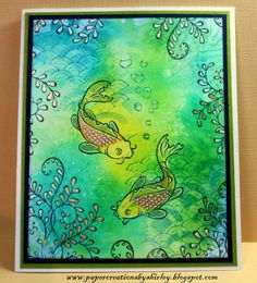 Paper Creations by Shirley: Koi Fish by Designs by Ryn