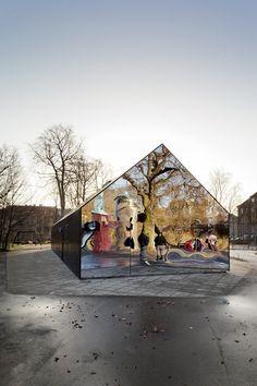 Mirror House, 2011 Fælledparken (Central Park), Corner of Blegdamsvej/Frederik V vej, Copenhagen, Denmark