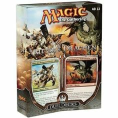 Magic the Gathering: MTG Duel Decks: Knights vs Dragons (Two 60 Card Decks) by Wizards of the Coast. $50.99. Each of the cards in the two 60-card decks will be black-bordered and tournament legal. NOTE: This product can ONLY be shipped the United States, Puerto Rico, APO/FPOs and USVI. Knights vs. Dragons is based on the well-known folklore and fantasy tales of knights hunting down and slaying dangerous dragons. Magic the Gathering: MTG Duel Decks: Knights vs Dr...