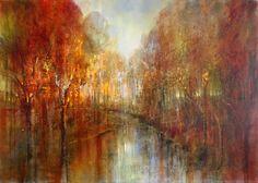 Annette Schmucker - painting of an autumnal forest
