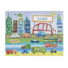 Land of Nod, personalized transportation wall art