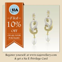 Looking for much needed discount on fashion #jewellery? Register at www.siajewellery.com & get a Sia E-Privilege Card and win a flat 10% off on future purchases!