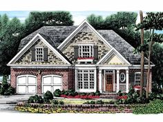 Eplans Cottage House Plan - Truly Comfortable Place to Call Home - 1879 Square Feet and 3 Bedrooms from Eplans - House Plan Code HWEPL09981