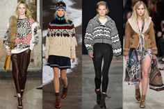 <p>Fair Isle prints, chunky sweaters, and oversize hats remind us of worn leather couches, fireside chats, and brimming goblets of Merlot. Yum. <br /><br /><em>Emilio Pucci, Tommy Hilfiger, Rag