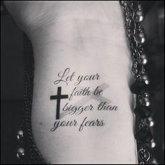 Temporary tattoo religious tattoo faith cross quote tattoo, Tattoo, Religious quote cross temporary tattoos This set includes 2 temporary tattoos These tattoos measure approx. Tattoos Motive, Foot Tattoos, Sexy Tattoos, Cute Tattoos, Body Art Tattoos, Small Tattoos, Temporary Tattoos, Portrait Tattoos, Tatoos