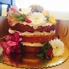 Naked Cake - Strawberry Shortcake - by A Sweet Classic by Carol - follow on Instagram