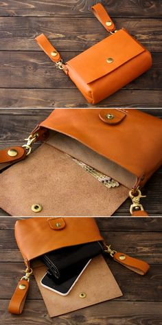 Trendy diy bag and purses no sew Ideas Leather Belt Pouch, Leather Purses, Belt Purse, Leather Purse Diy, Hip Purse, Belt Bags, Leather Holster, Leather Bags, Crea Cuir