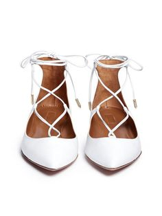 White Lace Up Pointed Ballet Flats White Ballet Shoes, Pointed Ballet Flats, White Flat Shoes, Pointy Toe Flats, Lace Up Flats, Ballerina Shoes, Glass Shoes, Prom Shoes, Women's Shoes