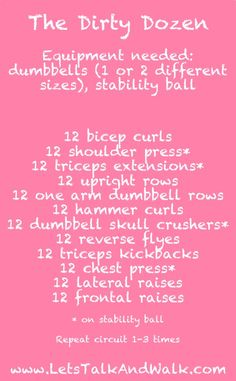 The Dirty Dozen Arm Workout from LetsTalkAndWalk.com #Fitfluential #MOVE