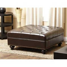 Shop for Abbyson Frankfurt Tufted Square Nailhead Trim Ottoman. Get free shipping at Overstock.com - Your Online Furniture Outlet Store! Get 5% in rewards with Club O! - 14312339