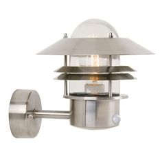 Nordlux Blokhus Up Motion Sensor Stainless Steel Wall light Contemporary Outdoor Wall Lights, Outdoor Wall Lamps, Outdoor Wall Sconce, Outdoor Walls, Porch Lighting, Exterior Lighting, Outdoor Lighting, Steel Wall, Light Sensor