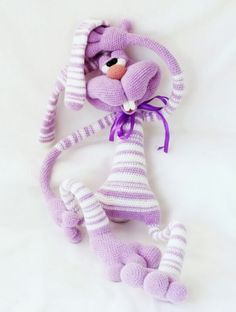Project by Elena Himichenko. Rabbit Keks crochet pattern by Pertseva for LittleOwlsHut #rabbit #Keks #dude #crochet pattern #Pertseva #LittleOwlsHut #crafts_&_DIY