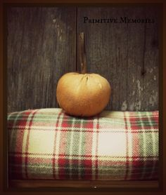 simple pumpkin and flannel