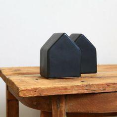 Maison déco en porcelaine noire