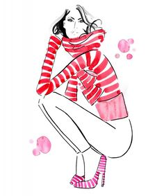 kerrie hess, fashion illustration, kerrie hess illustration