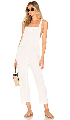5b8ca6927c2 Shop for MIKOH Sayama Jumpsuit in Bone at REVOLVE.