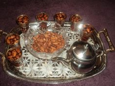 Tea with almonds from Libya. Read Recipe by tibettenzin Libyan Food, Venison Meat, How To Read A Recipe, Biltong, Joy Of Cooking, Sweet Pastries, Fresh Fruits And Vegetables, Raisin, Almonds