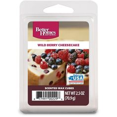 Scented Wax Cubes – Two (2) Packs 2.5 oz (BERRY CHEESECAKE) -- You can get additional details at the image link. (This is an affiliate link and I receive a commission for the sales)