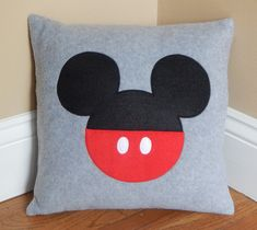 These soft and cuddly animal pillows are the perfect touch for any child's bedroom. Safe for toddlers Handmade inch pillows Machine washable Made in a smoke-free and pet-free environment This critter is just one in the Animal Pillow Collection Disney Diy, Disney Crafts, Mickey Mouse Nursery, Minnie Mouse, Mickey Mouse Quilt, Mickey Craft, Disney Pillows, Cute Cushions, Felt Pillow