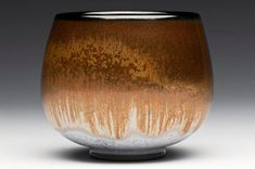 Sebastian Moh - One color gradation from dark brown to orange brown + white base Pottery Mugs, Ceramic Pottery, Pottery Art, Thrown Pottery, Ceramic Bowls, Ceramic Art, Color Glaze, Painted Jars, Japanese Pottery