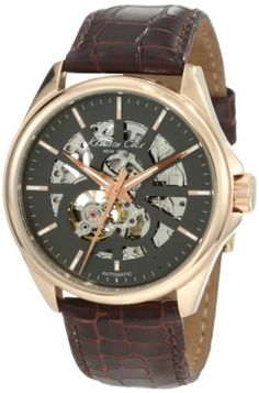 #Kenneth #Cole New York Men's KC1514 Automatic Gunmetal Dial Leather Strap #Watch       This watch is awesome       http://amzn.to/Ha976Y