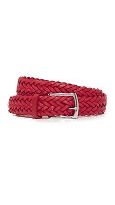 Measure dimension: A adorned leather Rag & Bone belt with finished hardware. Braided Belt, Braided Leather, Shop Rags, Style Ideas, Bones, Braids, Slim, Red, Accessories