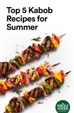 Call it dinner on a stick. These kabob recipes are the perfect summer dinner inspo, whether you like chicken, meat or veggies.