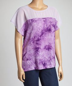 Look what I found on #zulily! Purple Tie-Dye Dolman Top - Plus by C.O.C. #zulilyfinds