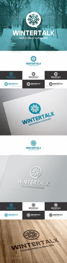Winter Chat / Forum Logo. Snowflake logo emblem – Excellent logo in vector format for social network, winter theme chat, snow chat, cooling systems, snow removal services, it, speak business, networking, design agency, technology company, data storage service, hosting support, data housing & sharing, networks, and many more… – Adaptable for a wide variety of uses. Design is minimal & easy to configure. Ready to print. You can easily change the text.