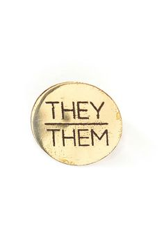 Brass pronoun pins that are ethically-made from recycled brass. Nickel-free. Ethical Fashion Brands, Ethical Clothing, Vegan Fashion, Slow Fashion, Sustainable Clothing, Sustainable Fashion, Vegan Shoes, Fashion Group, Best Brand