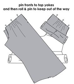 Enclosing all seams inside a shirt yoke.