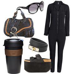 Black by vanda-varelas on Polyvore featuring polyvore fashion style H&M Y.R.U. Christian Dior MANGO KeepCup